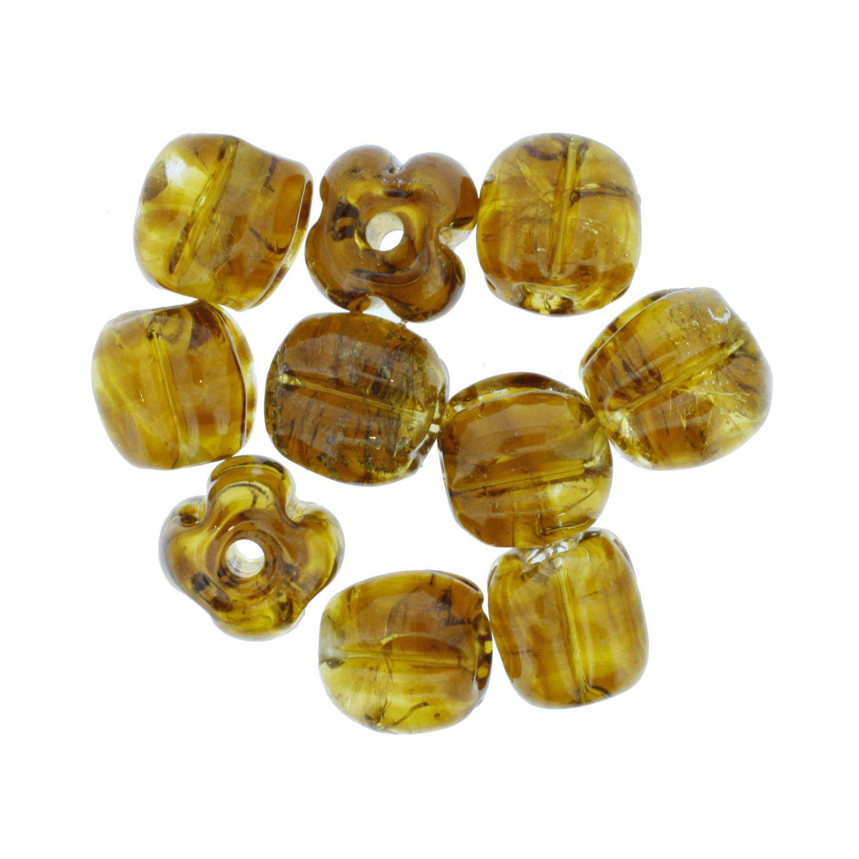 Firma Pitanga - Dourada Âmbar Transparente  - Stéphanie Bijoux® - Peças para Bijuterias e Artesanato