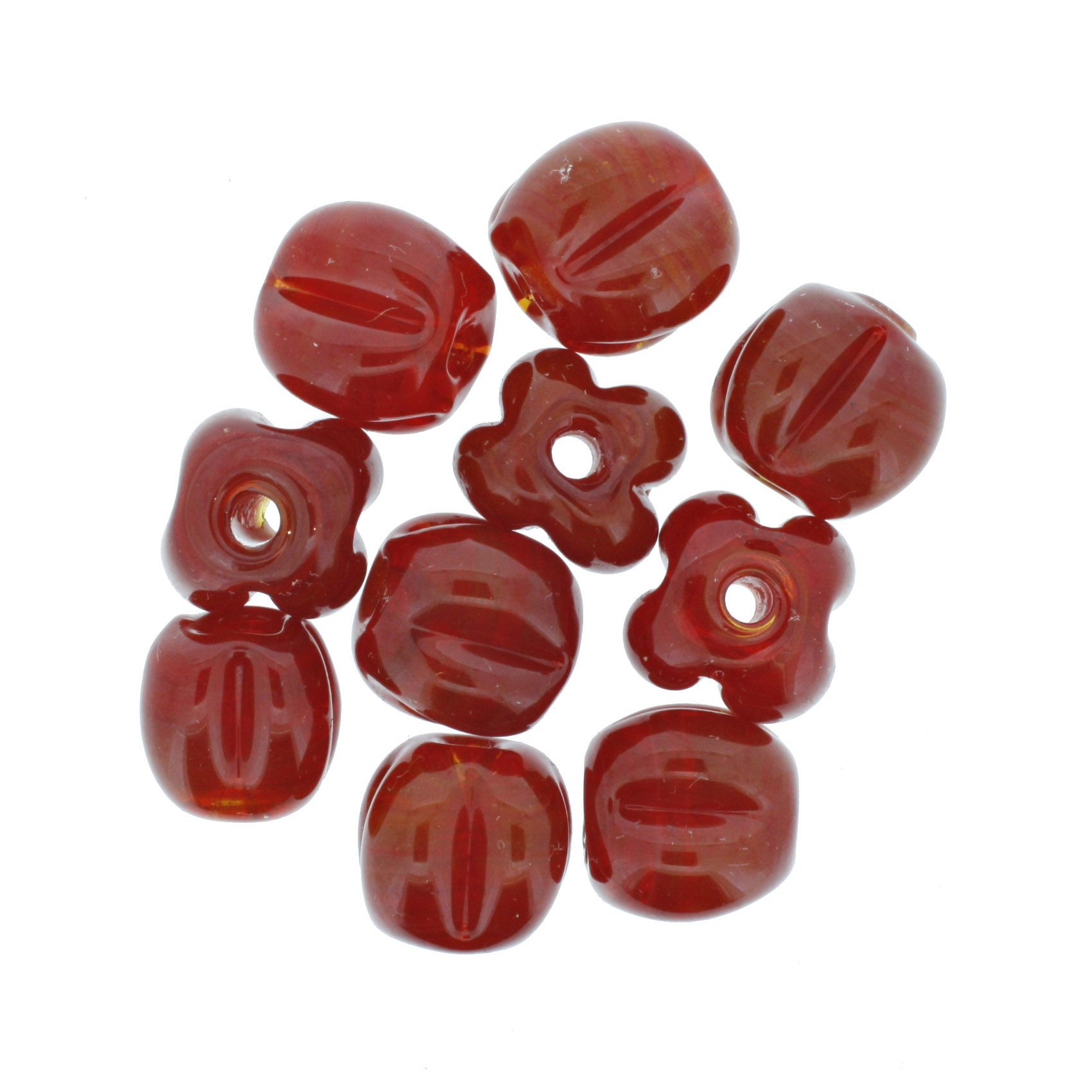 Firma Pitanga - Vermelha Transparente  - Stéphanie Bijoux® - Peças para Bijuterias e Artesanato