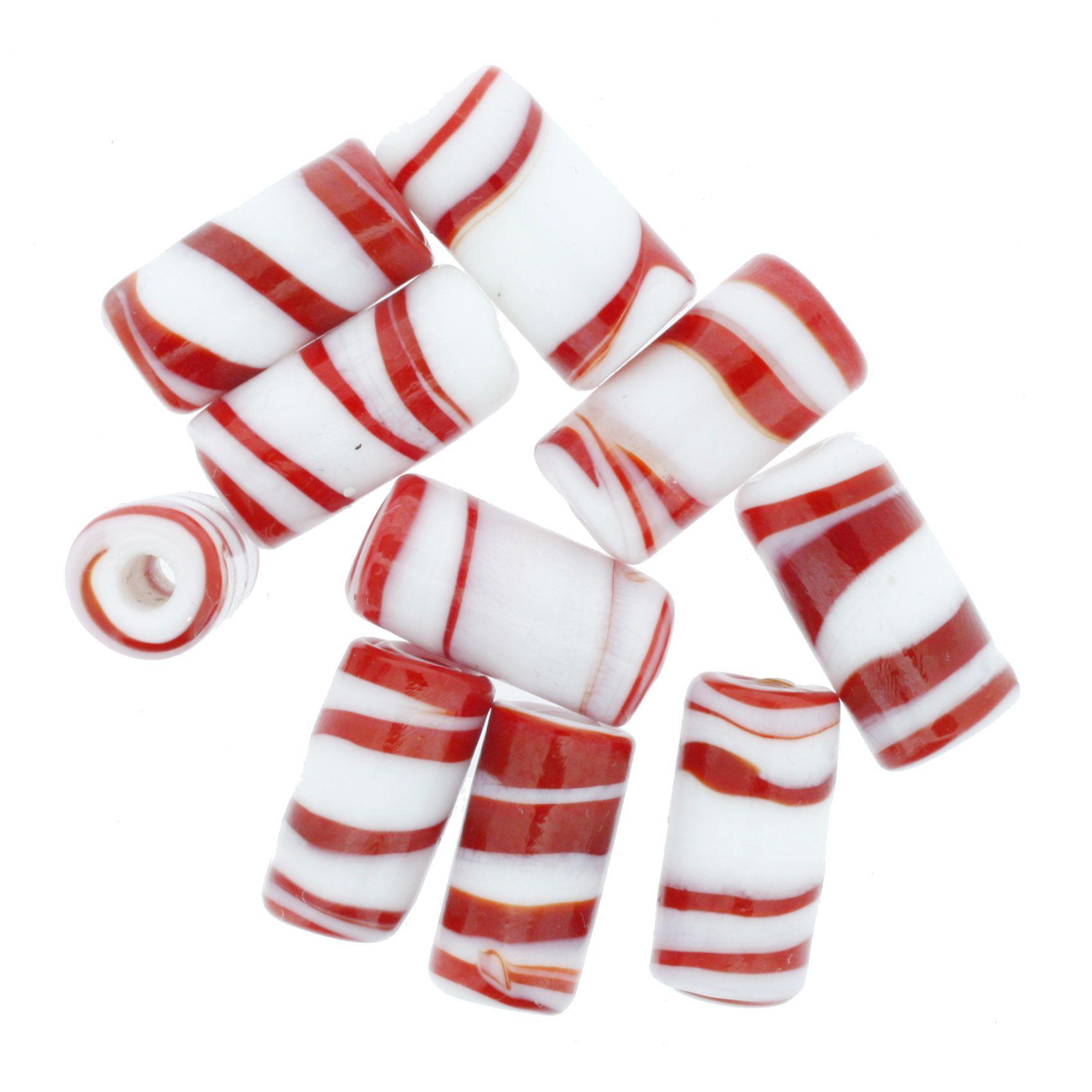 Firma Rajada - Branca e Vermelha  - Stéphanie Bijoux® - Peças para Bijuterias e Artesanato