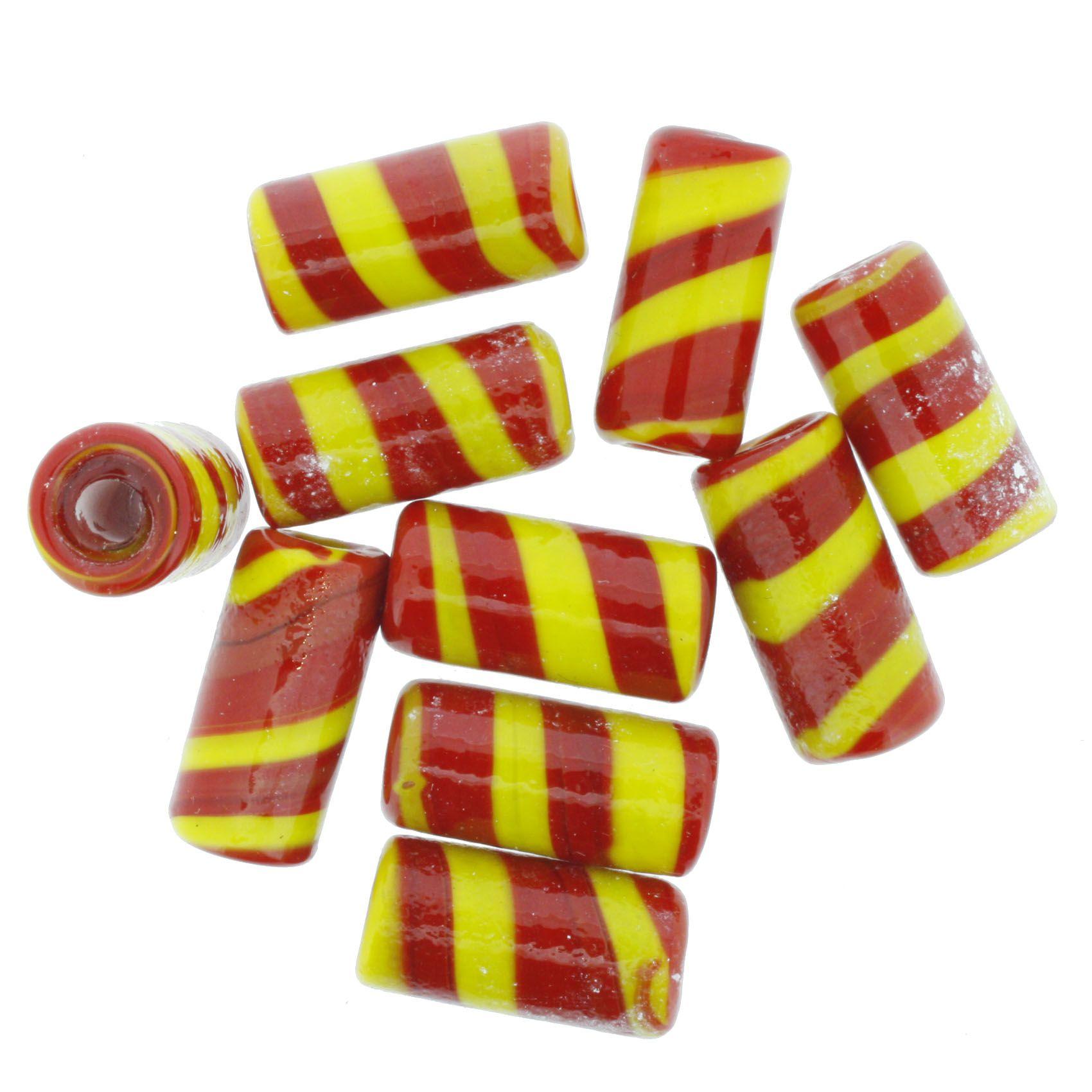 Firma Rajada - Vermelha e Amarela  - Stéphanie Bijoux® - Peças para Bijuterias e Artesanato