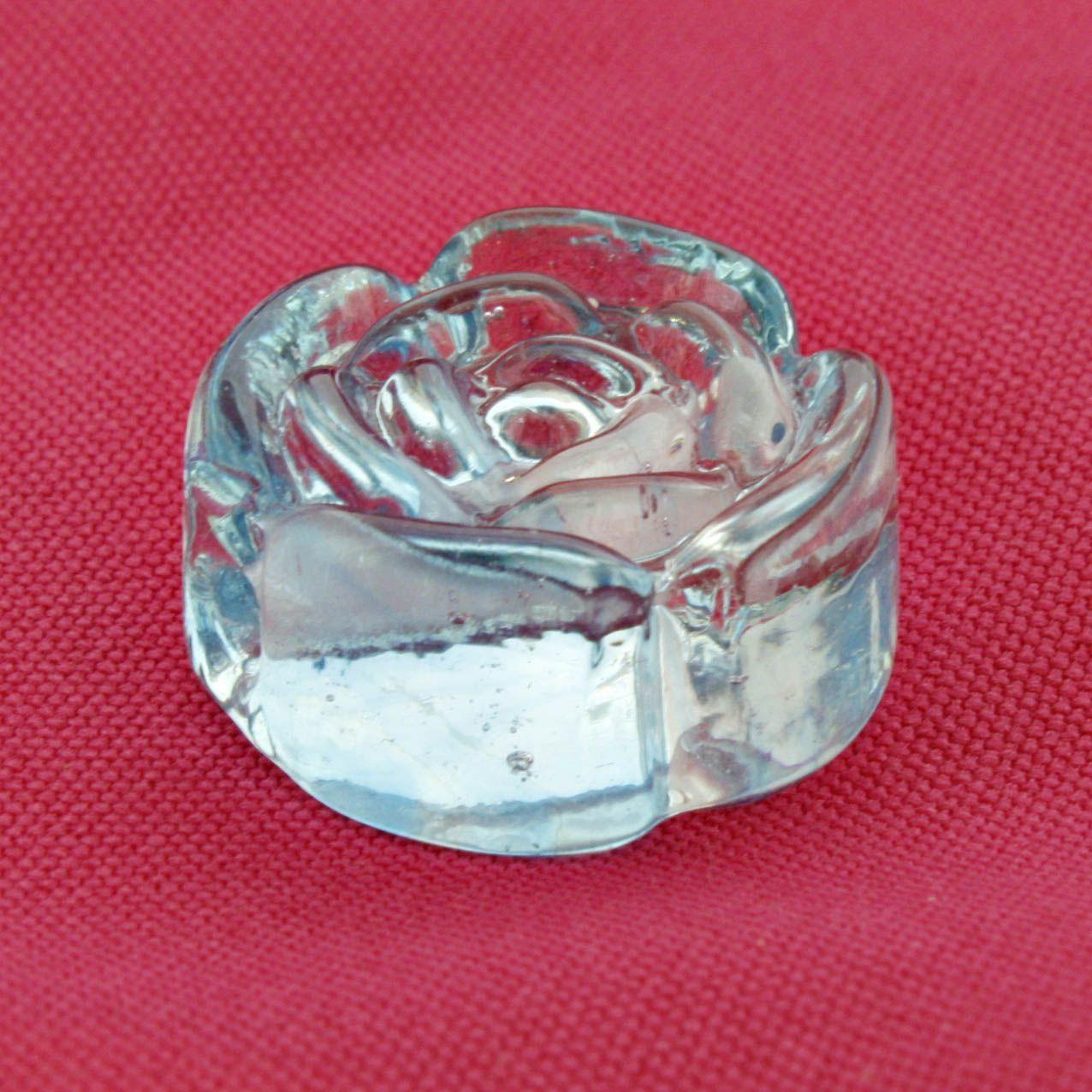 Firma Rosa - Azul Claro Transparente - 1 Peça  - Stéphanie Bijoux® - Peças para Bijuterias e Artesanato