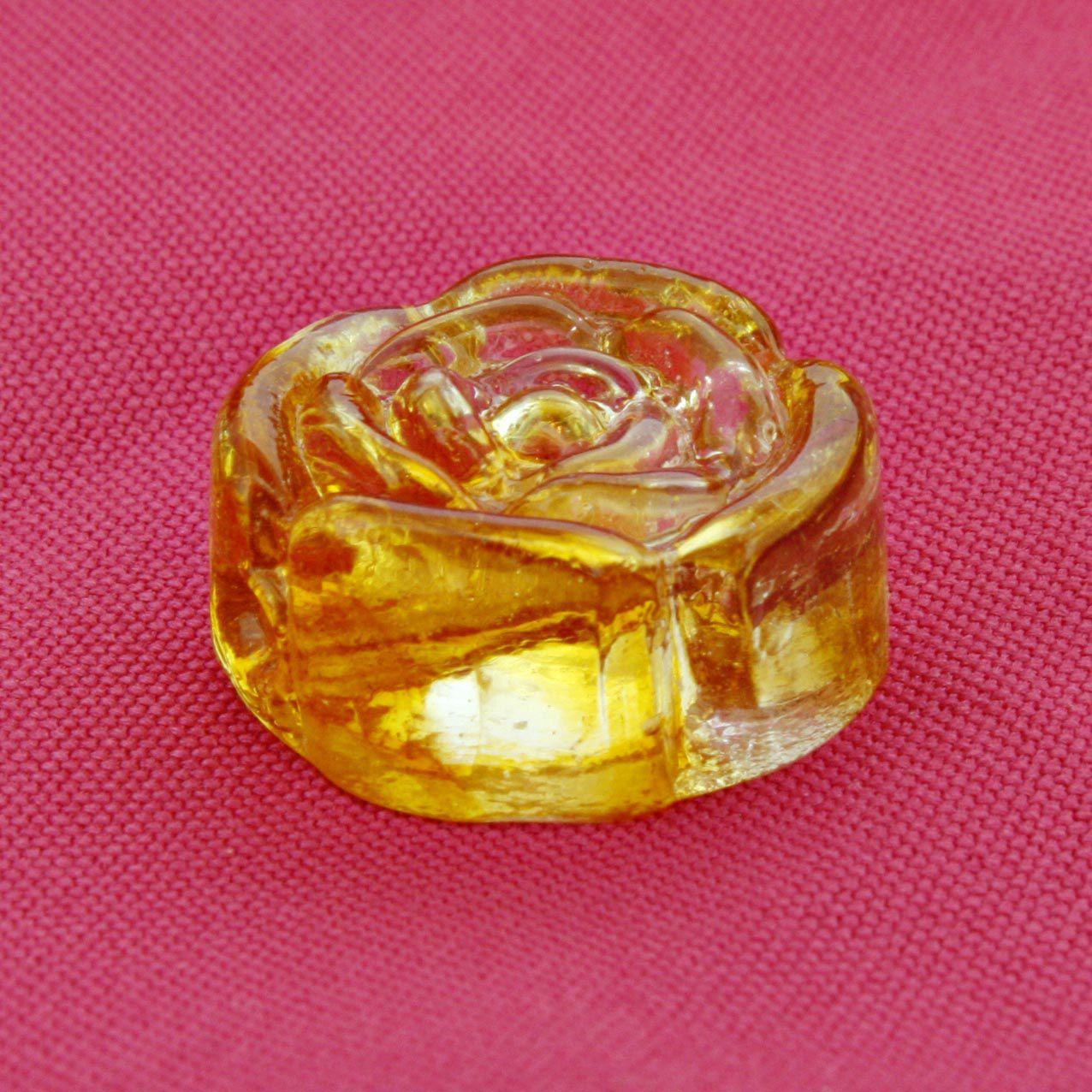 Firma Rosa - Dourada Transparente - 1 Peça  - Stéphanie Bijoux® - Peças para Bijuterias e Artesanato