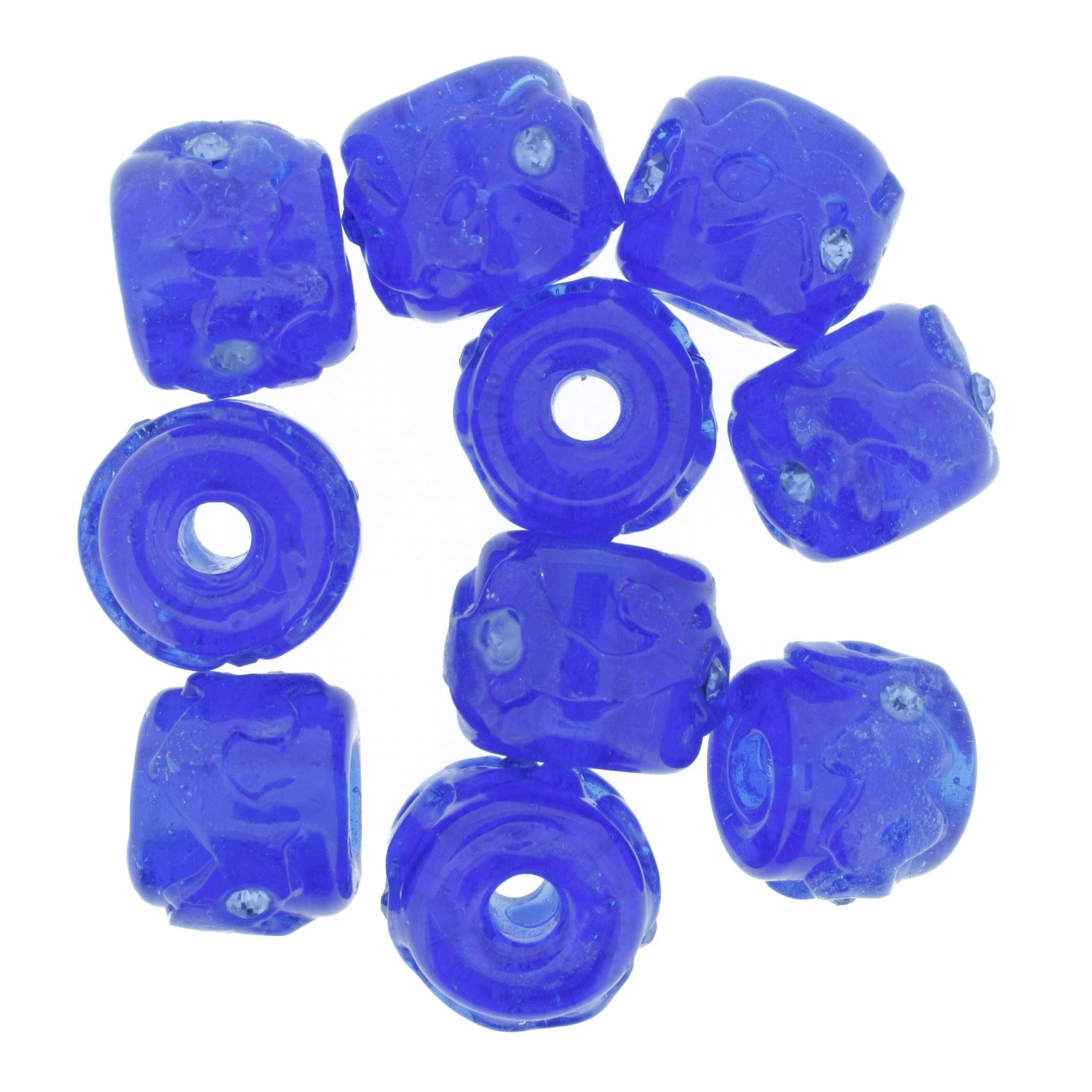 Firmas Strass - Azul Transparente  - Stéphanie Bijoux® - Peças para Bijuterias e Artesanato
