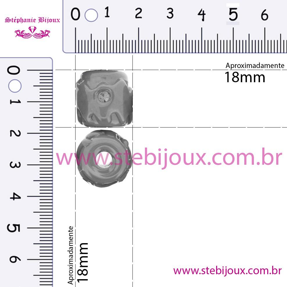 Firmas Strass - Branca e Azul  - Stéphanie Bijoux® - Peças para Bijuterias e Artesanato