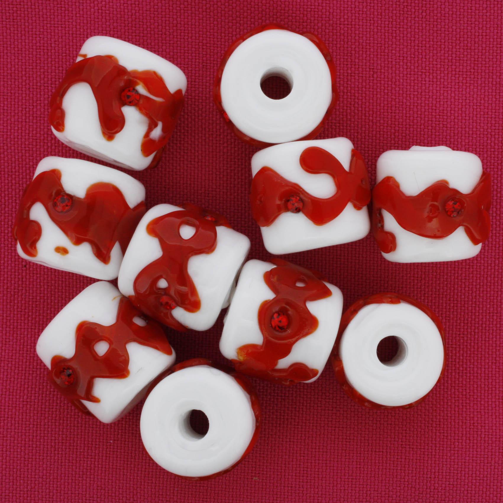 Firmas Strass - Branca e Vermelha  - Stéphanie Bijoux® - Peças para Bijuterias e Artesanato