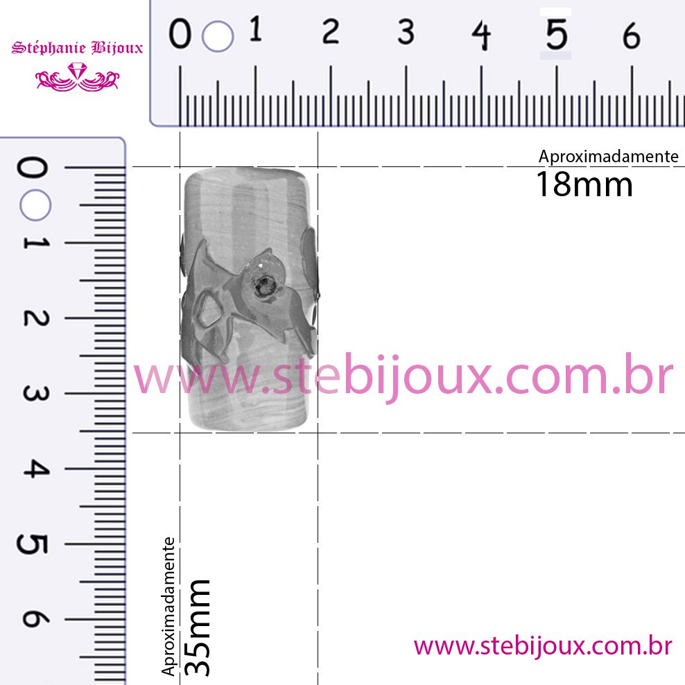 Firmas Strass GG - Amarela  - Stéphanie Bijoux® - Peças para Bijuterias e Artesanato