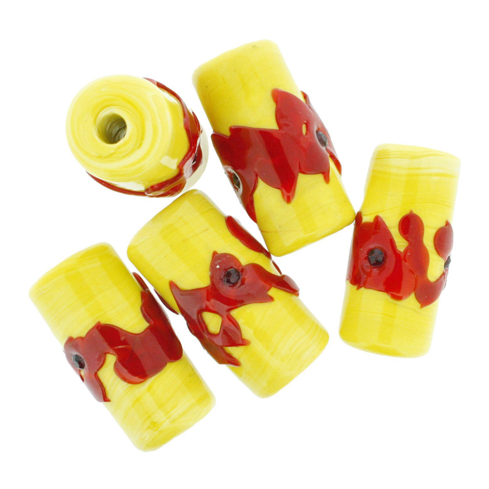 Firmas Strass GG - Amarela e Vermelha  - Stéphanie Bijoux® - Peças para Bijuterias e Artesanato