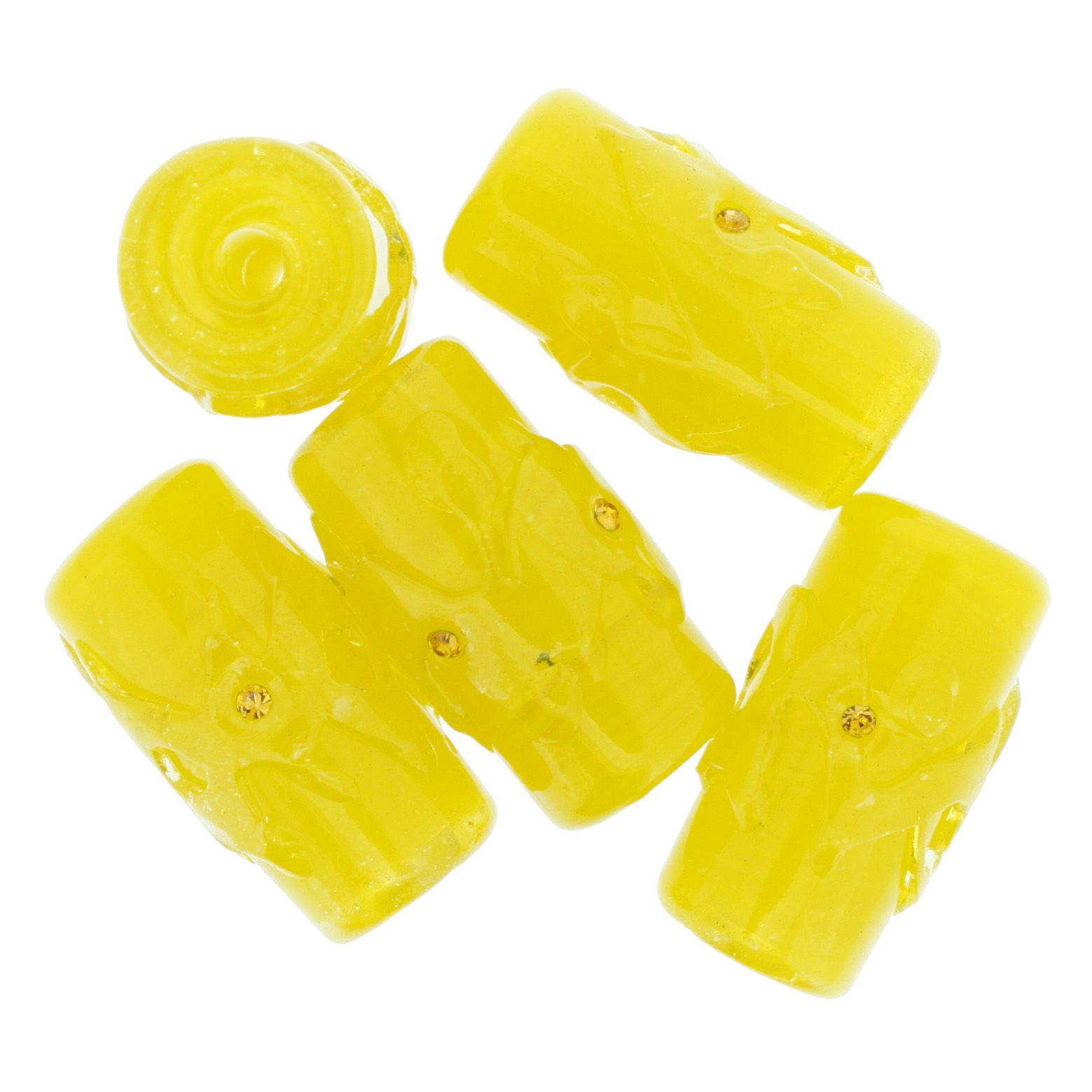 Firmas Strass GG - Amarela Transparente  - Stéphanie Bijoux® - Peças para Bijuterias e Artesanato