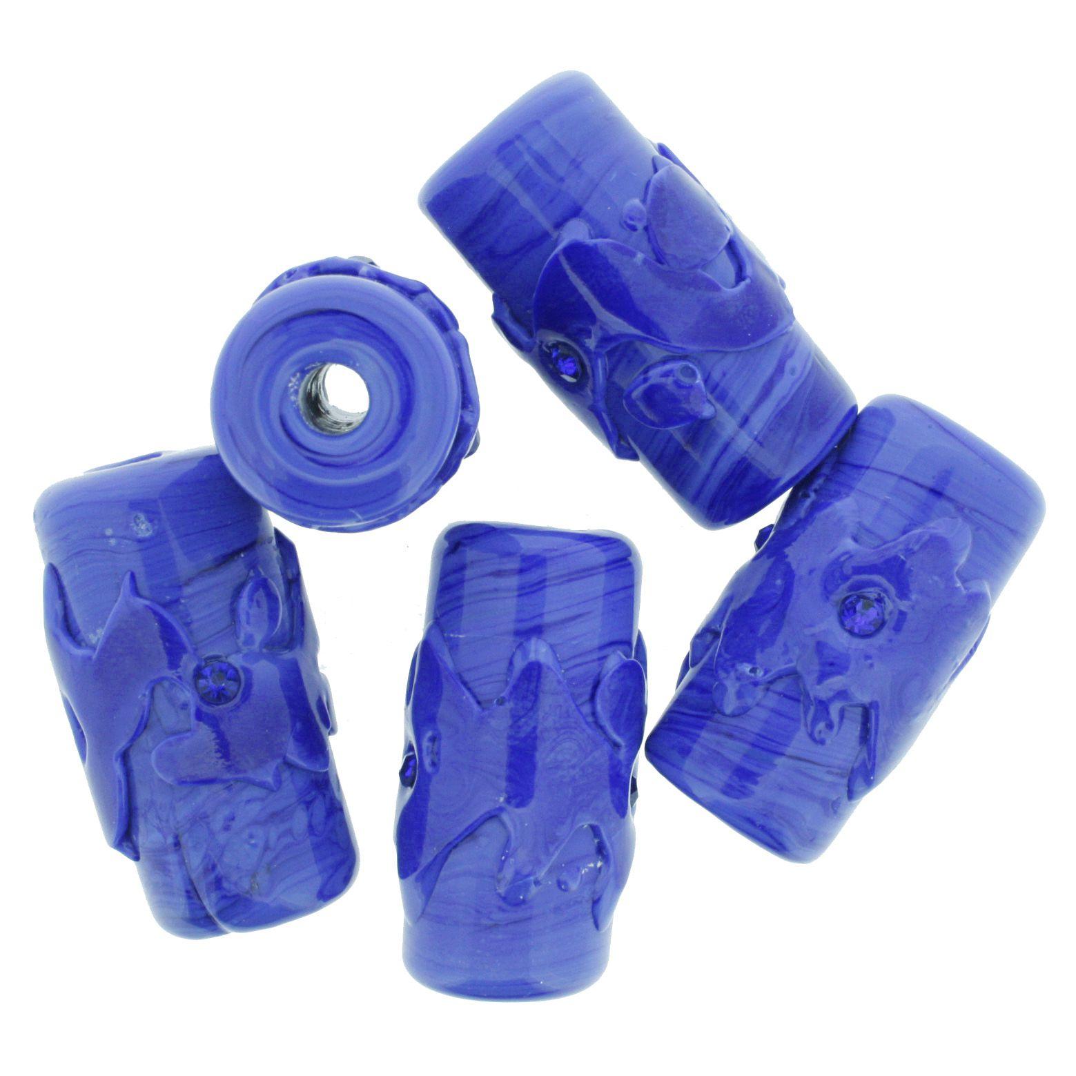 Firmas Strass GG - Azul  - Stéphanie Bijoux® - Peças para Bijuterias e Artesanato