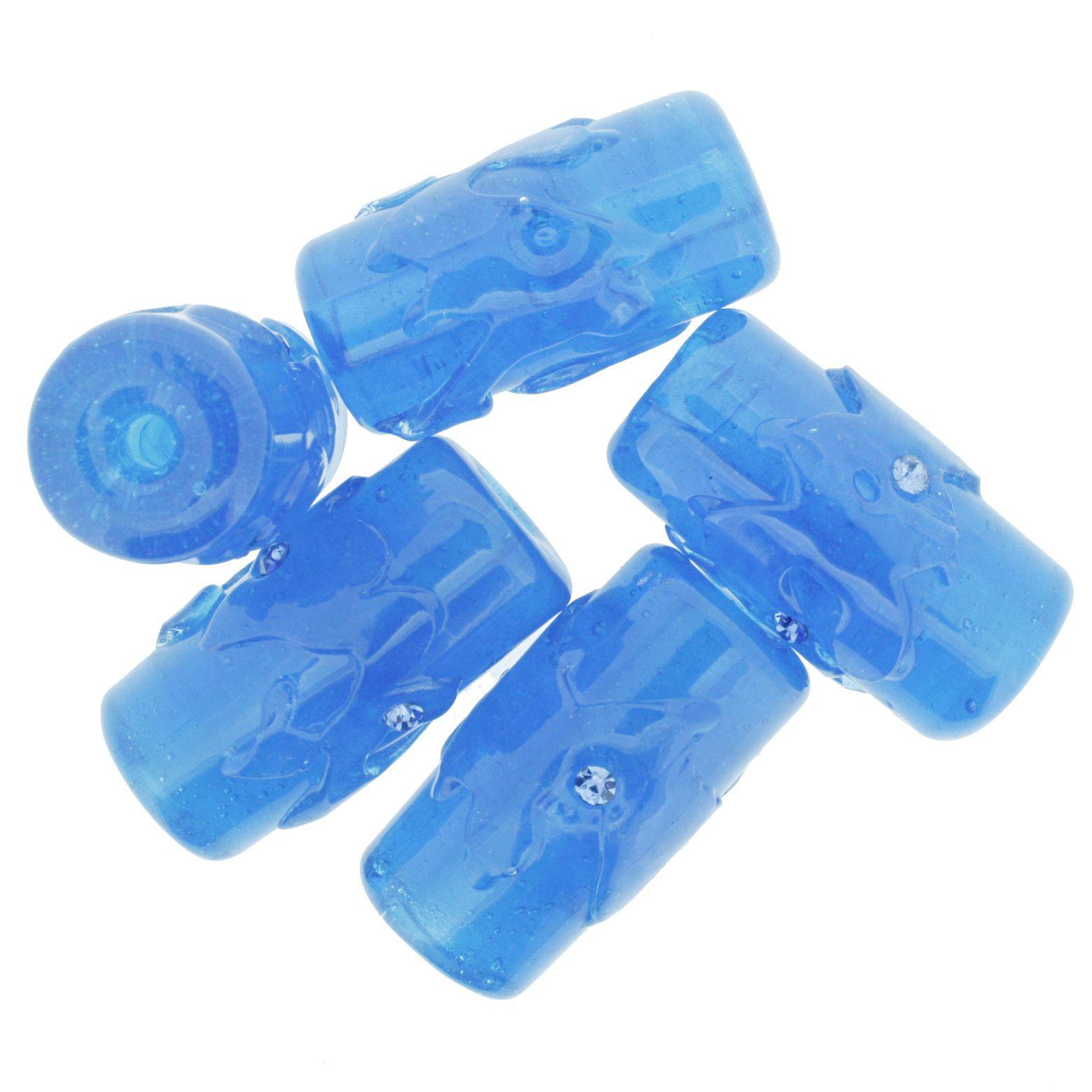 Firmas Strass GG - Azul Clara Transparente  - Stéphanie Bijoux® - Peças para Bijuterias e Artesanato
