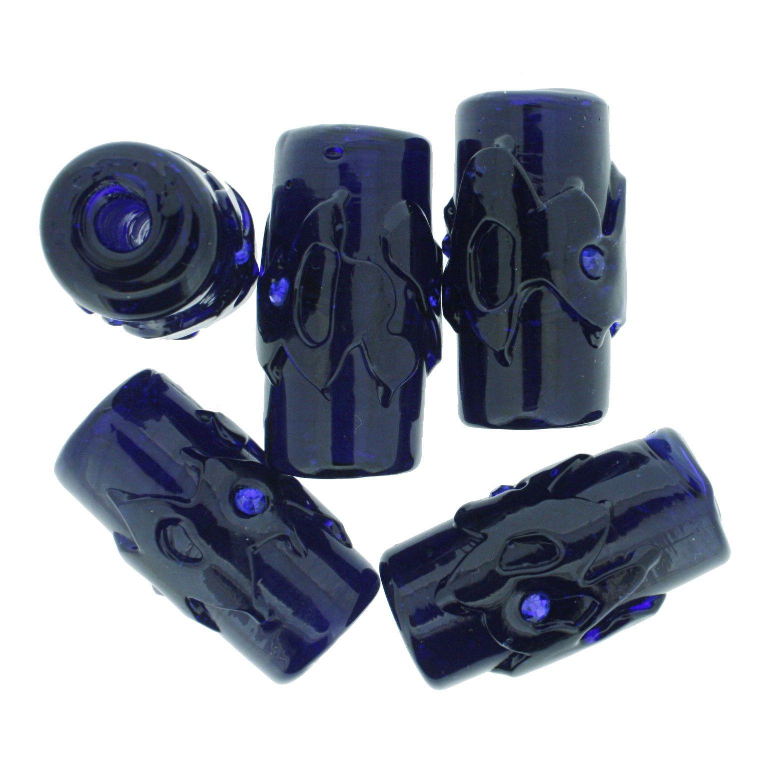 Firmas Strass GG - Azul Escuro Transparente  - Stéphanie Bijoux® - Peças para Bijuterias e Artesanato