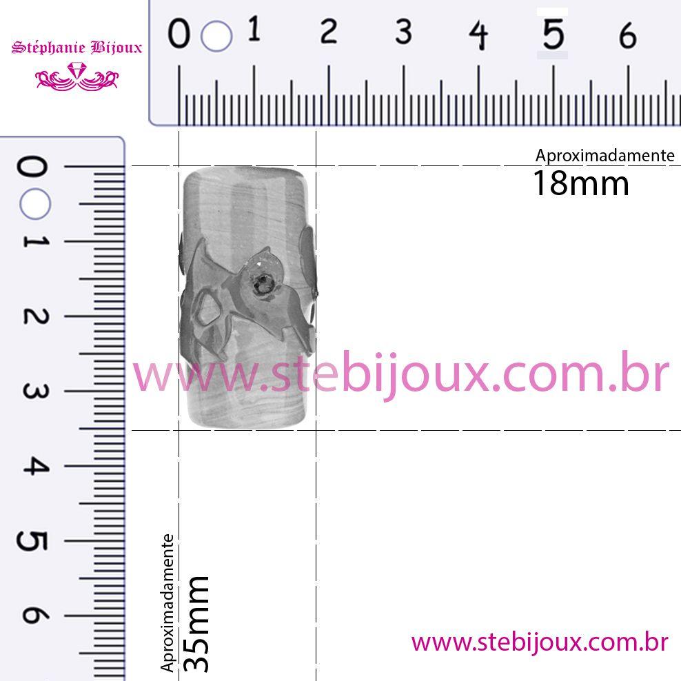 Firmas Strass GG - Dourada Transparente  - Stéphanie Bijoux® - Peças para Bijuterias e Artesanato