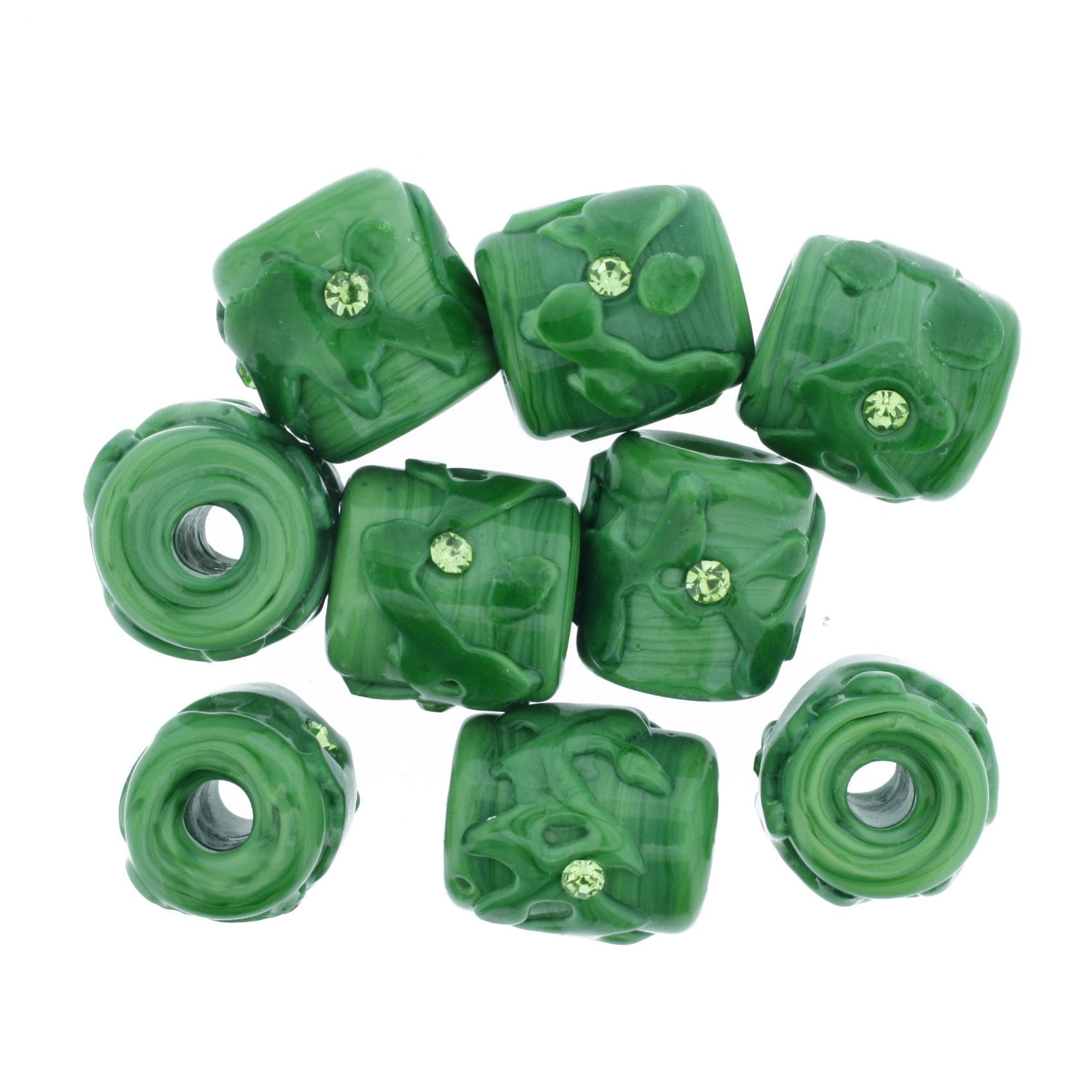 Firmas Strass - Verde  - Stéphanie Bijoux® - Peças para Bijuterias e Artesanato