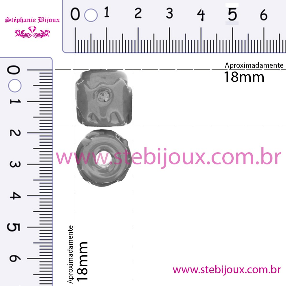 Firmas Strass - Vermelha  - Stéphanie Bijoux® - Peças para Bijuterias e Artesanato