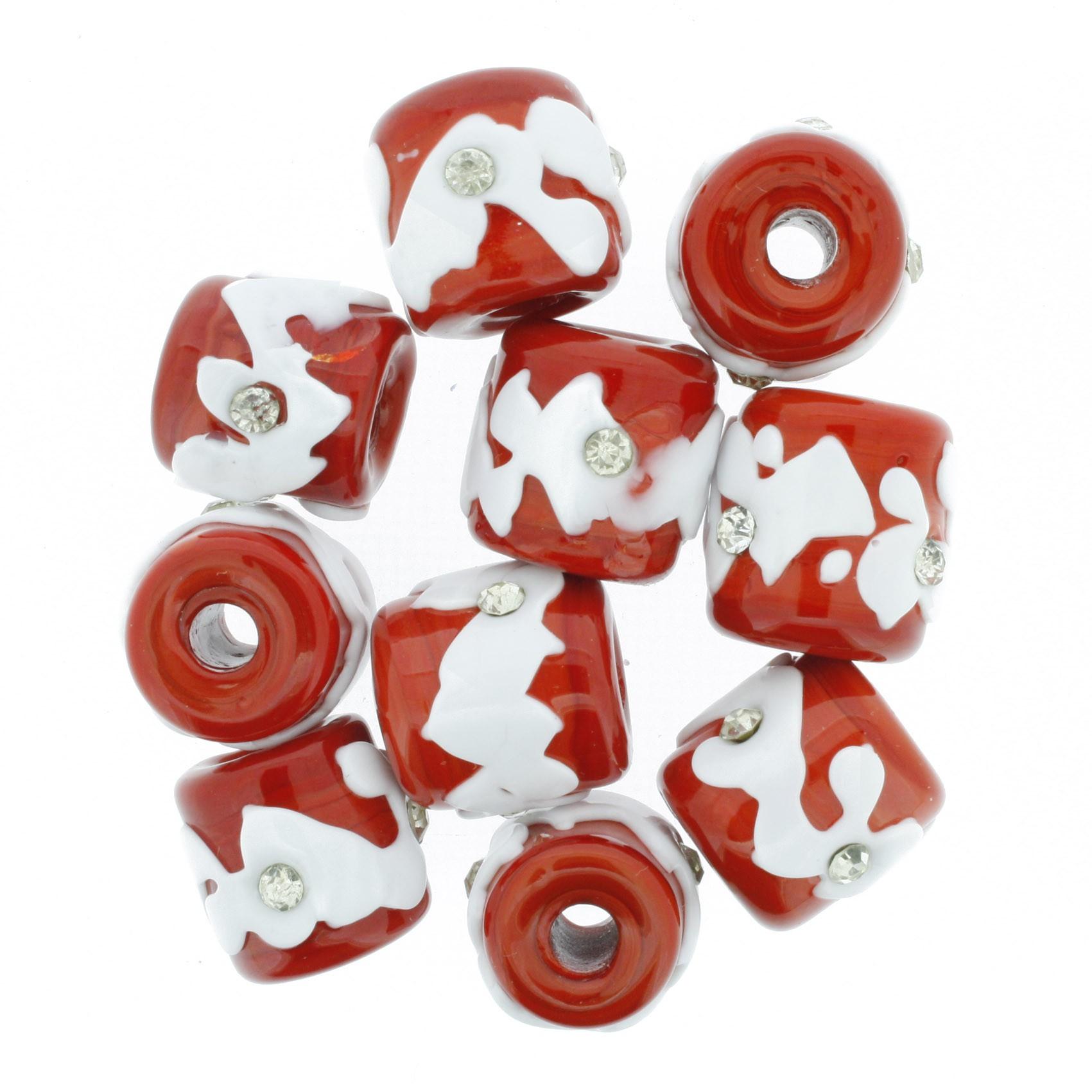 Firmas Strass - Vermelha e Branca  - Stéphanie Bijoux® - Peças para Bijuterias e Artesanato