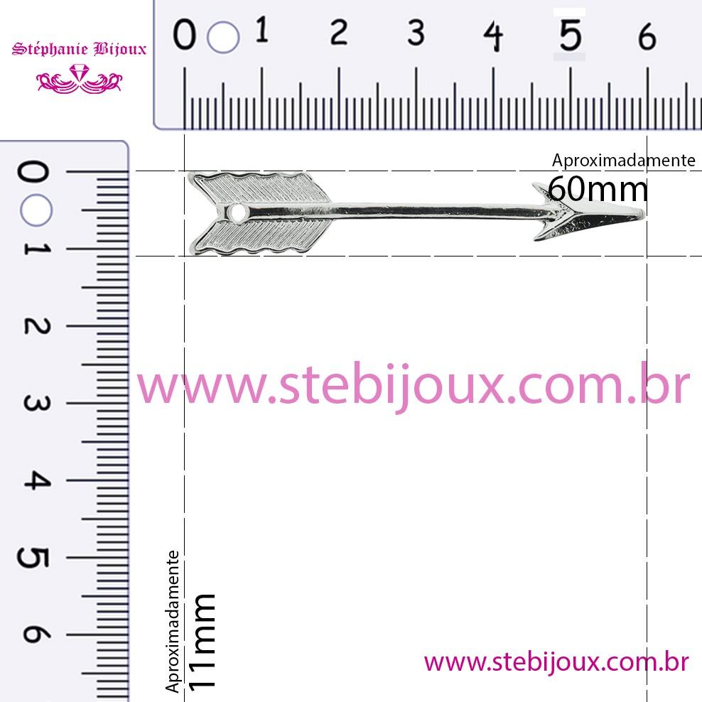 Flecha - Níquel - 60mm  - Stéphanie Bijoux® - Peças para Bijuterias e Artesanato