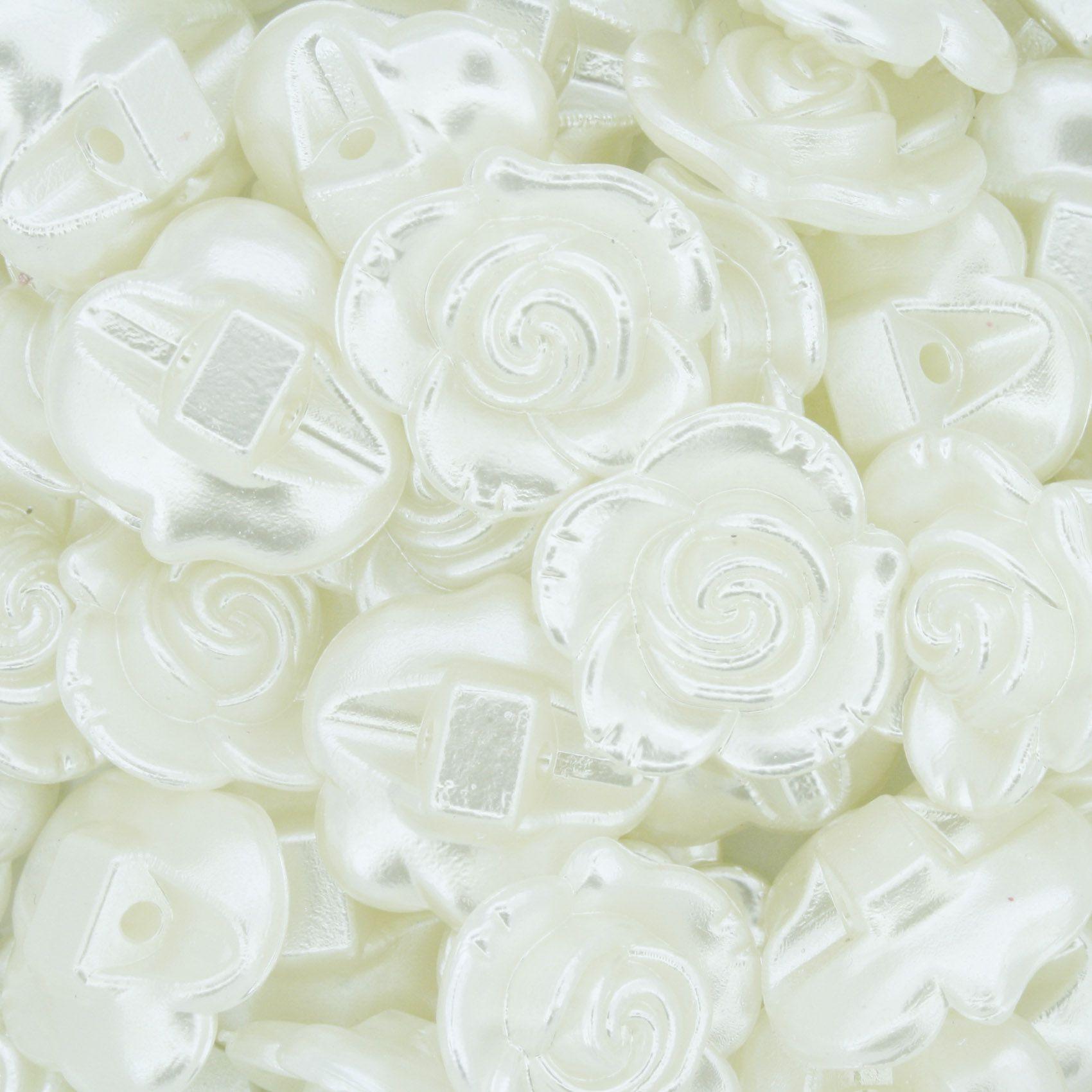 Flor de Pérola - Creme - 18mm  - Stéphanie Bijoux® - Peças para Bijuterias e Artesanato