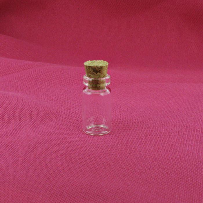 Garrafinha de Vidro com Rolha - 11x22mm [ 1ml ]  - Stéphanie Bijoux® - Peças para Bijuterias e Artesanato