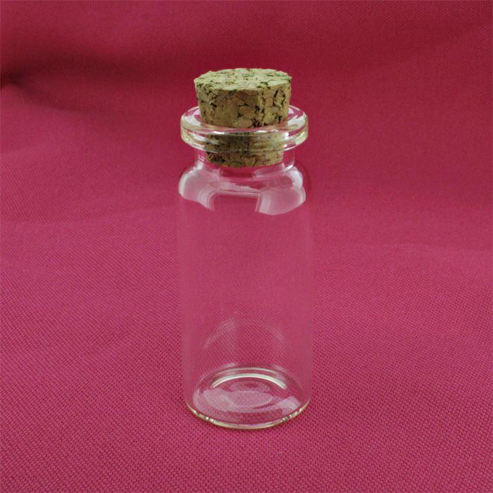 Garrafinha de Vidro com Rolha - 22x40mm [ 9ml ]  - Stéphanie Bijoux® - Peças para Bijuterias e Artesanato