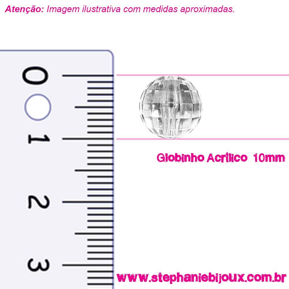 Globinho Acrílico - Transparente - 10mm  - Stéphanie Bijoux® - Peças para Bijuterias e Artesanato
