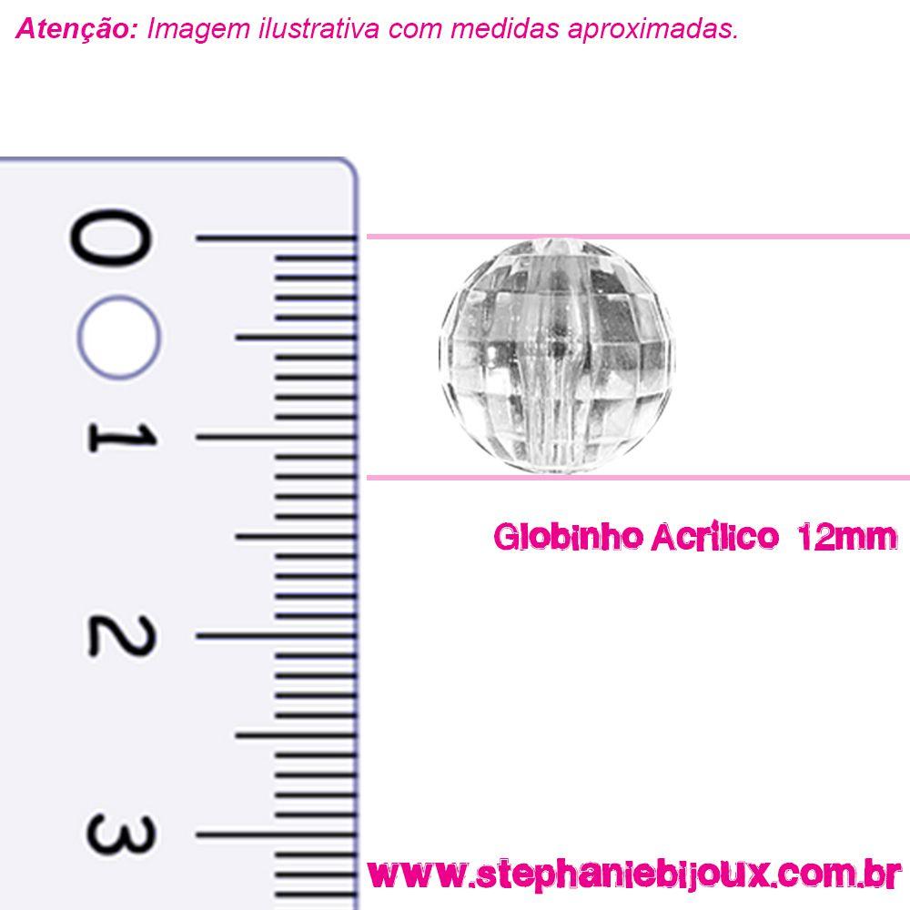 Globinho Acrílico - Transparente - 12mm  - Stéphanie Bijoux® - Peças para Bijuterias e Artesanato