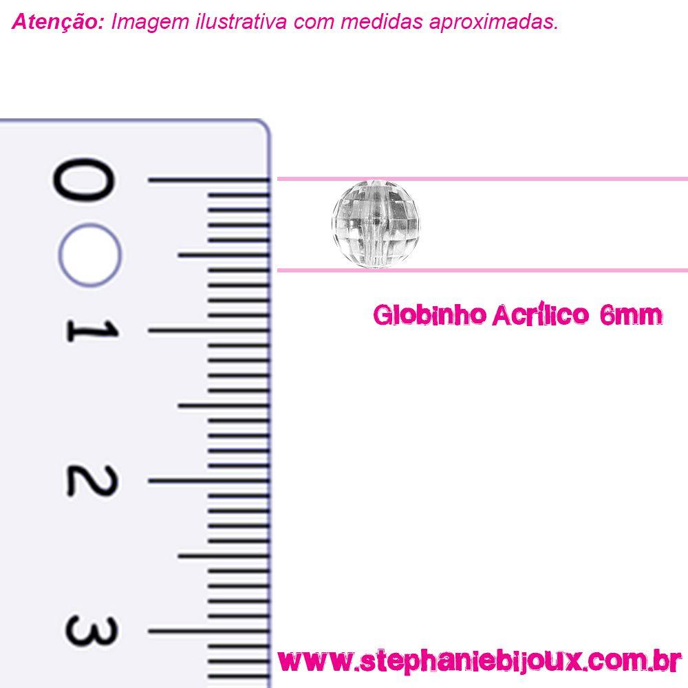 Globinho Acrílico - Transparente - 6mm  - Stéphanie Bijoux® - Peças para Bijuterias e Artesanato