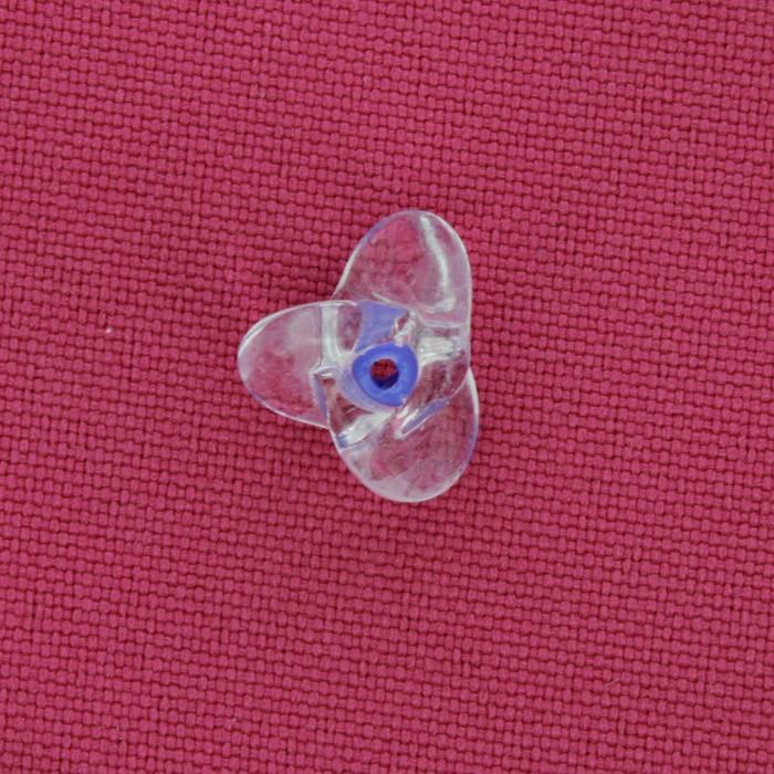 Hélice Vidro - Transparente e Azul - Ref.: MH504  - Stéphanie Bijoux® - Peças para Bijuterias e Artesanato