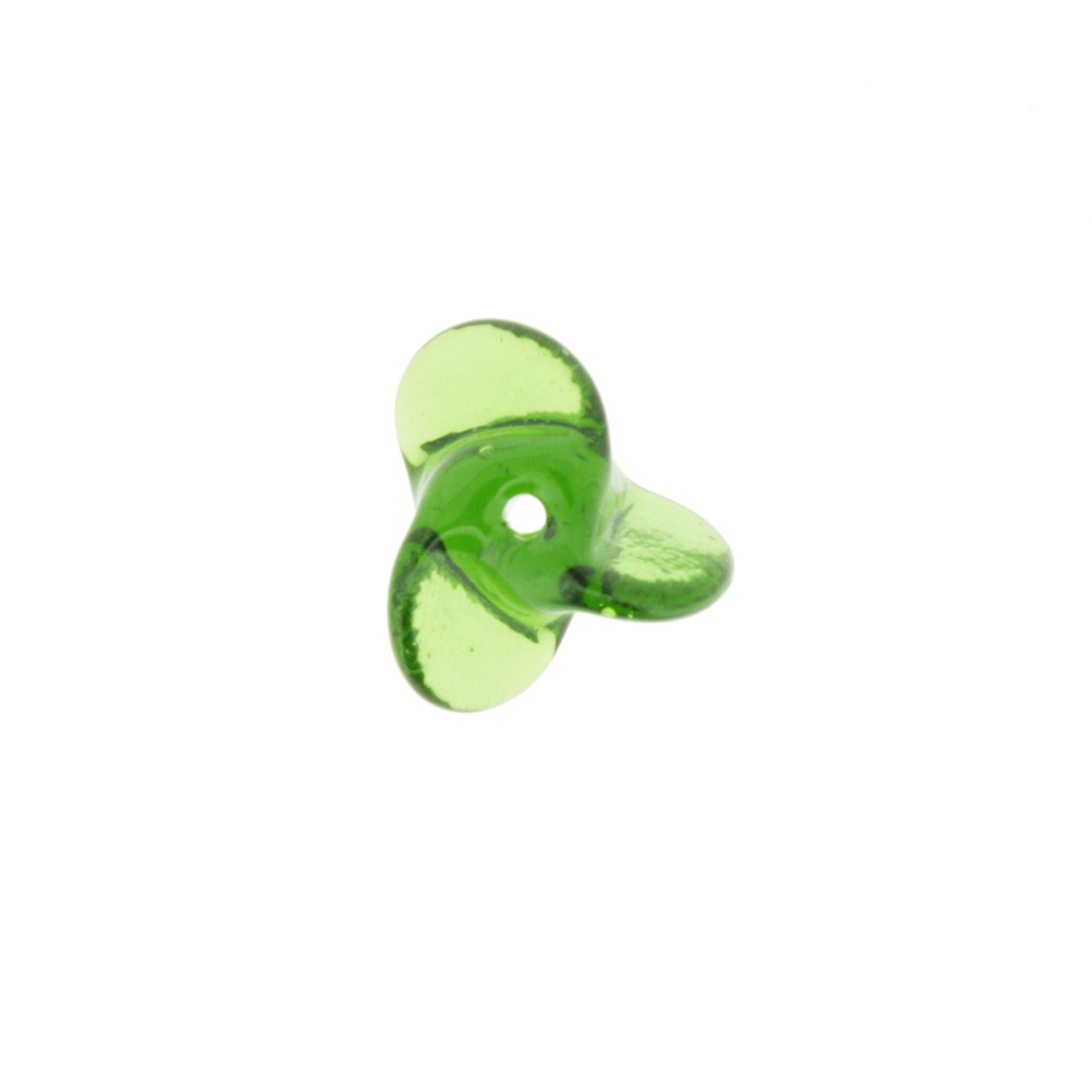 Hélice Vidro - Verde Transparente - Ref.: MH1355  - Stéphanie Bijoux® - Peças para Bijuterias e Artesanato