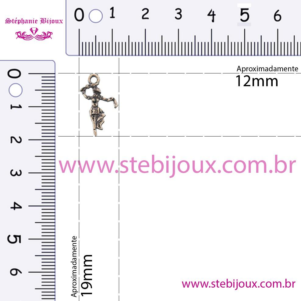 Iansã - Cobre Velho - 19mm  - Stéphanie Bijoux® - Peças para Bijuterias e Artesanato