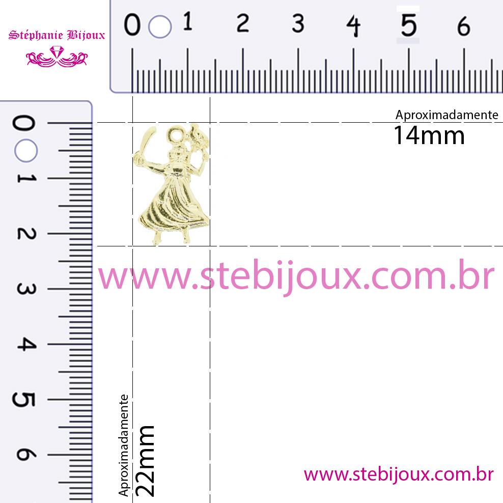 Iansã - Dourada - 22mm  - Stéphanie Bijoux® - Peças para Bijuterias e Artesanato