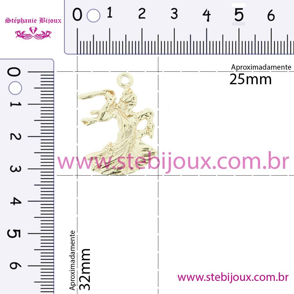 Iansã - Dourada - 32mm  - Stéphanie Bijoux® - Peças para Bijuterias e Artesanato