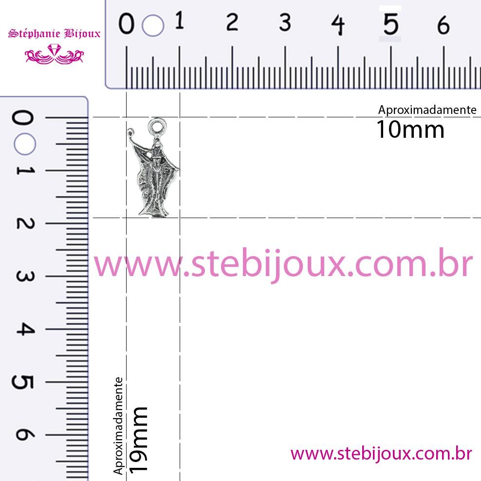 Iemanjá - Níquel Velho - 19mm  - Stéphanie Bijoux® - Peças para Bijuterias e Artesanato