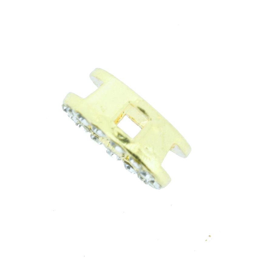 Infinito - Dourado com Strass - 12mm  - Stéphanie Bijoux® - Peças para Bijuterias e Artesanato