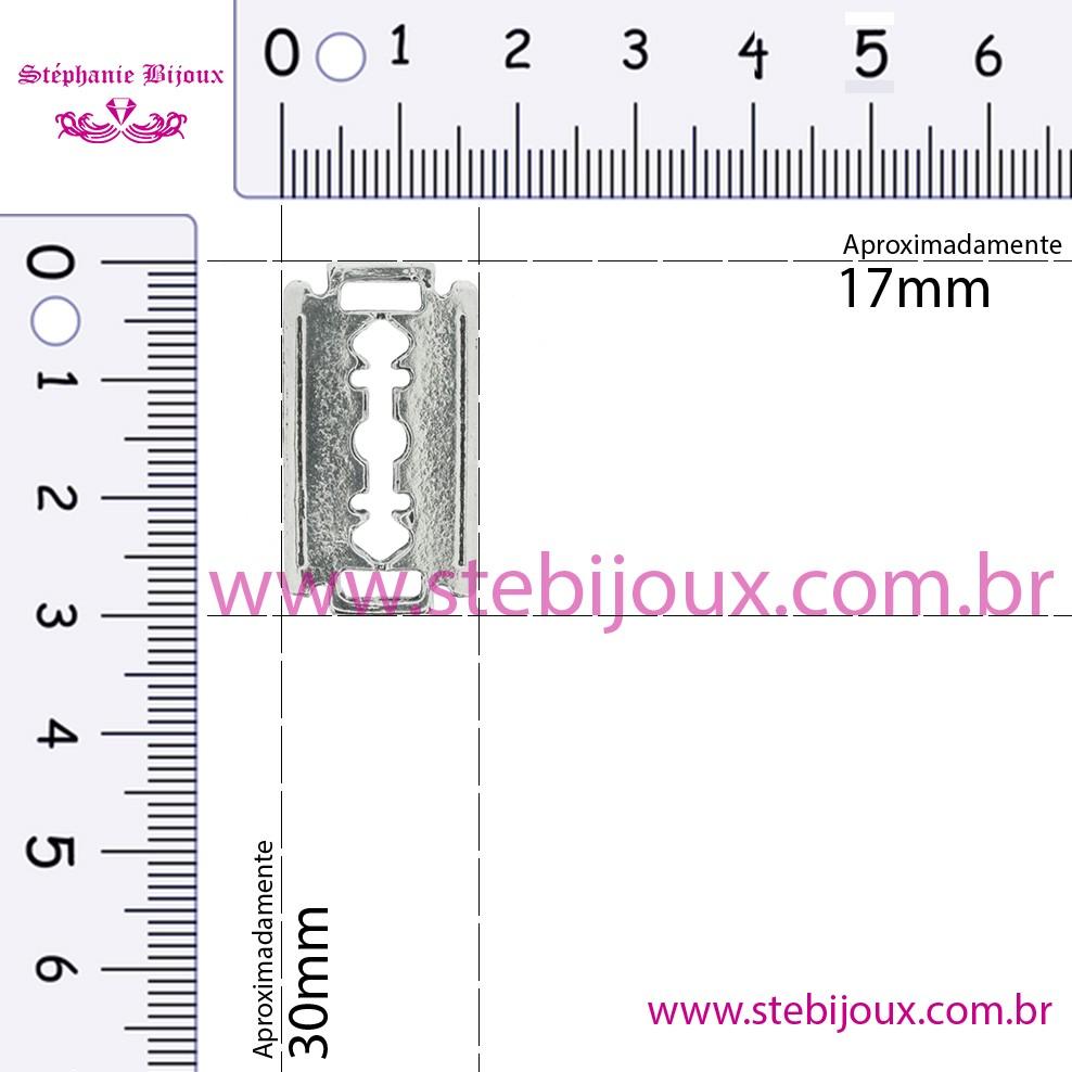 Lâmina Navalha - Níquel Velho - 30mm  - Stéphanie Bijoux® - Peças para Bijuterias e Artesanato