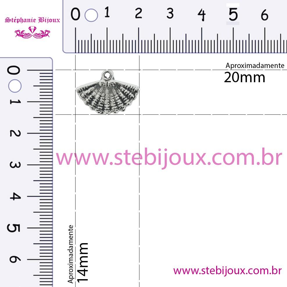 Leque - Níquel - 14mm  - Stéphanie Bijoux® - Peças para Bijuterias e Artesanato
