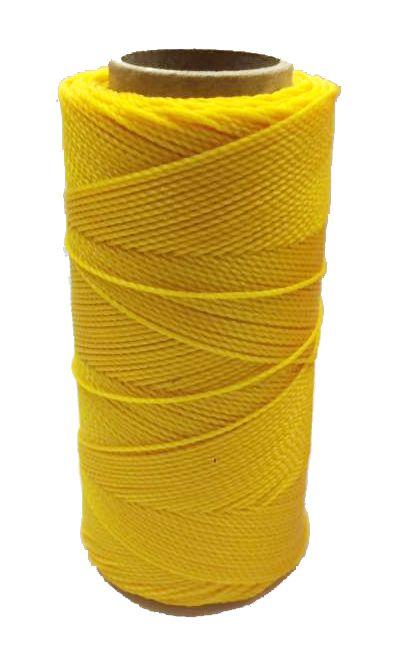 Linha Encerada - Amarelo - Cor 218 - 100g  - Stéphanie Bijoux® - Peças para Bijuterias e Artesanato
