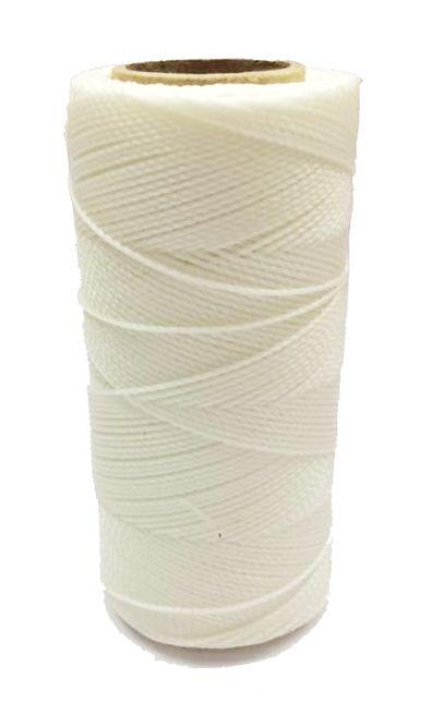 Linha Encerada - Branca - 100g  - Stéphanie Bijoux® - Peças para Bijuterias e Artesanato