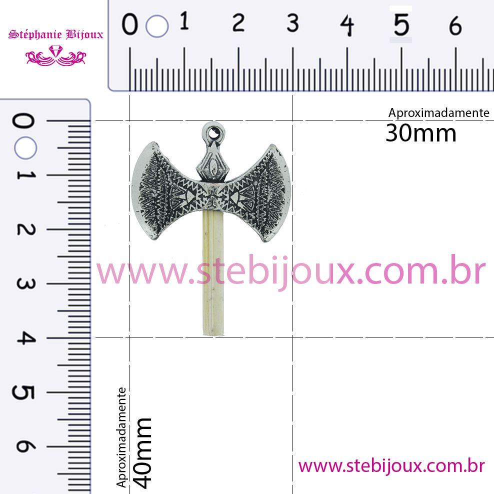 Machado Xangô - Níquel Velho - 40mm  - Stéphanie Bijoux® - Peças para Bijuterias e Artesanato