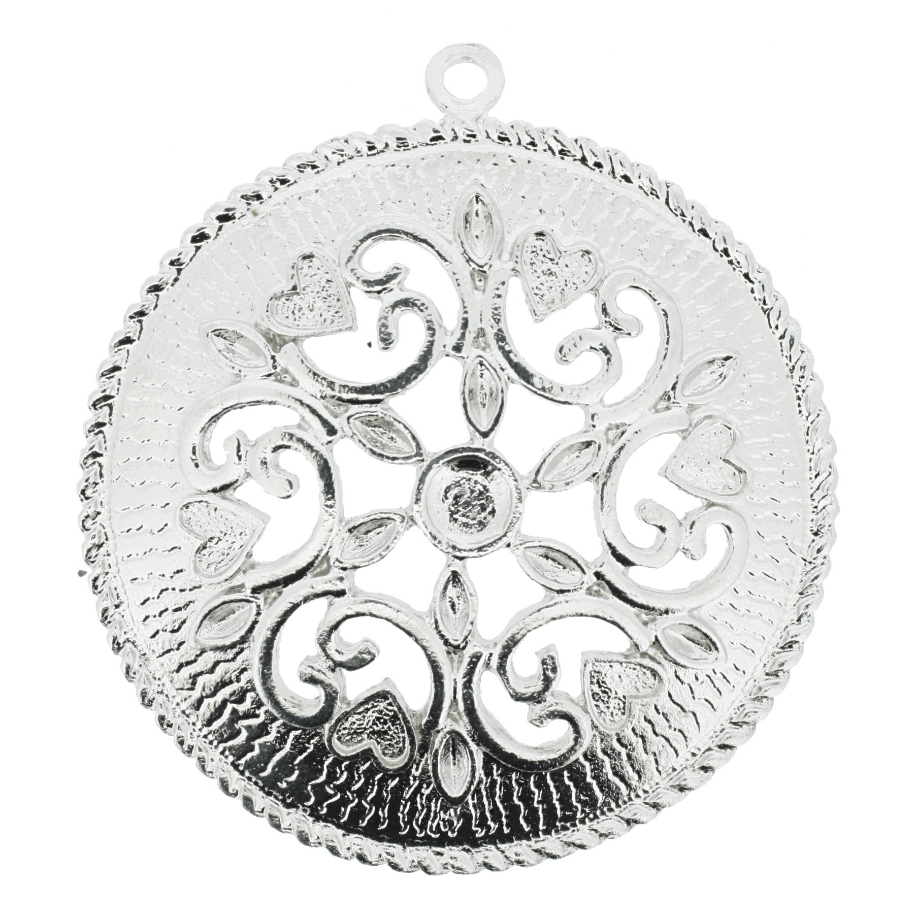 Mandala Floral - Níquel - 75mm  - Stéphanie Bijoux® - Peças para Bijuterias e Artesanato