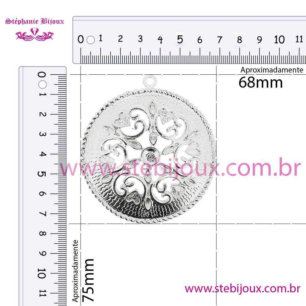 Mandala Floral - Ouro Velho - 75mm  - Stéphanie Bijoux® - Peças para Bijuterias e Artesanato
