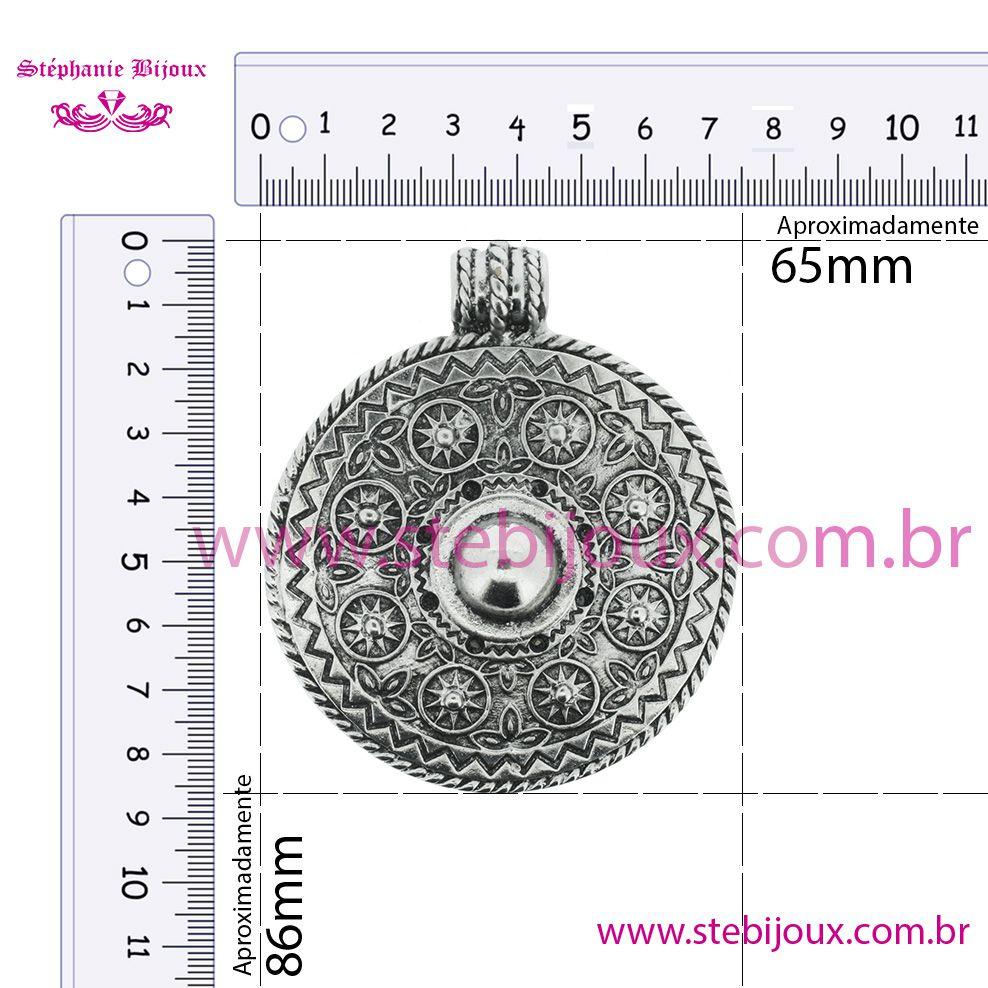 Mandala - Ouro Velho - 86mm  - Stéphanie Bijoux® - Peças para Bijuterias e Artesanato