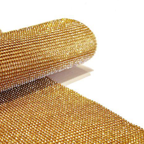 Manta de Strass - Dourada - 30x45cm  - Stéphanie Bijoux® - Peças para Bijuterias e Artesanato