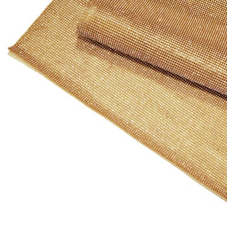 Manta de Strass - Dourada - 60x45cm  - Stéphanie Bijoux® - Peças para Bijuterias e Artesanato