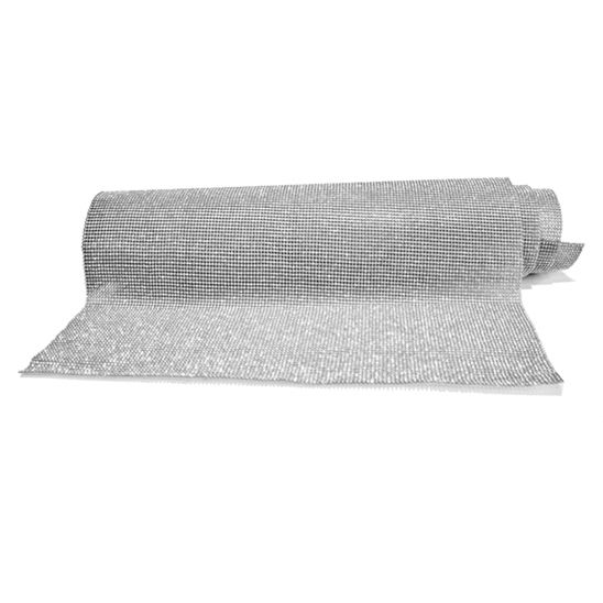 Manta de Strass - Níquel - 120x45cm  - Stéphanie Bijoux® - Peças para Bijuterias e Artesanato