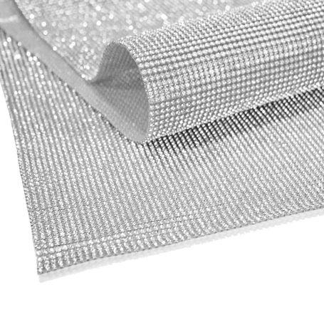 Manta de Strass - Níquel - 30x45cm  - Stéphanie Bijoux® - Peças para Bijuterias e Artesanato