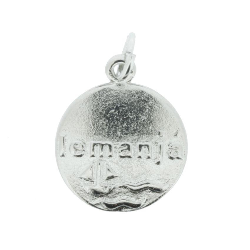 Medalha Iemanjá - Níquel - 20mm  - Stéphanie Bijoux® - Peças para Bijuterias e Artesanato