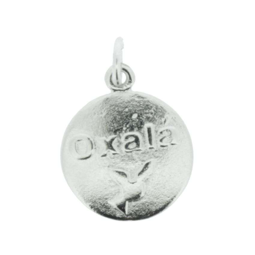 Medalha Oxalá - Níquel - 20mm  - Stéphanie Bijoux® - Peças para Bijuterias e Artesanato