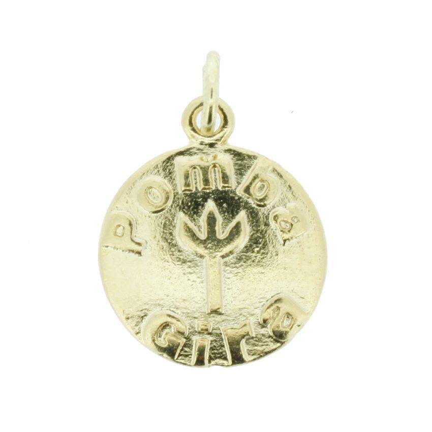 Medalha Pombagira - Dourada - 20mm  - Stéphanie Bijoux® - Peças para Bijuterias e Artesanato