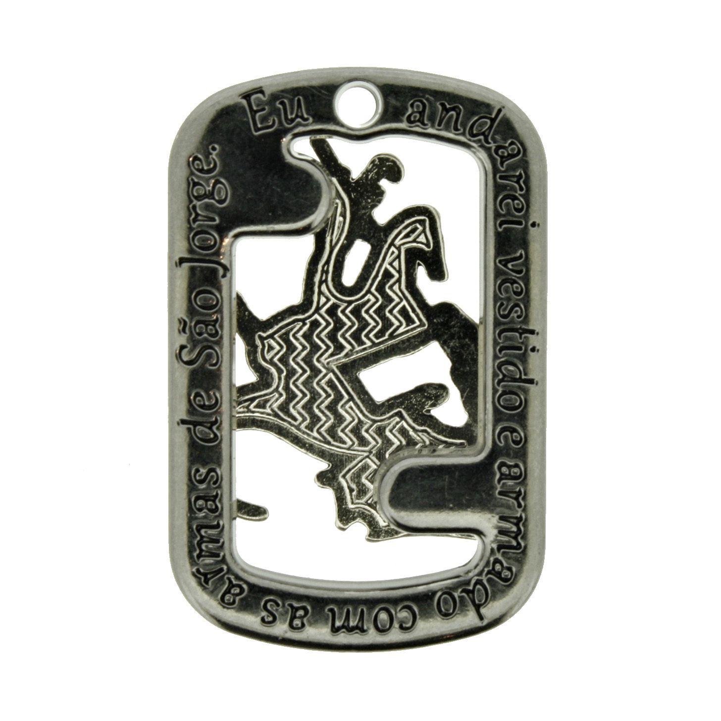Medalha São Jorge - Grafite - 32mm  - Stéphanie Bijoux® - Peças para Bijuterias e Artesanato
