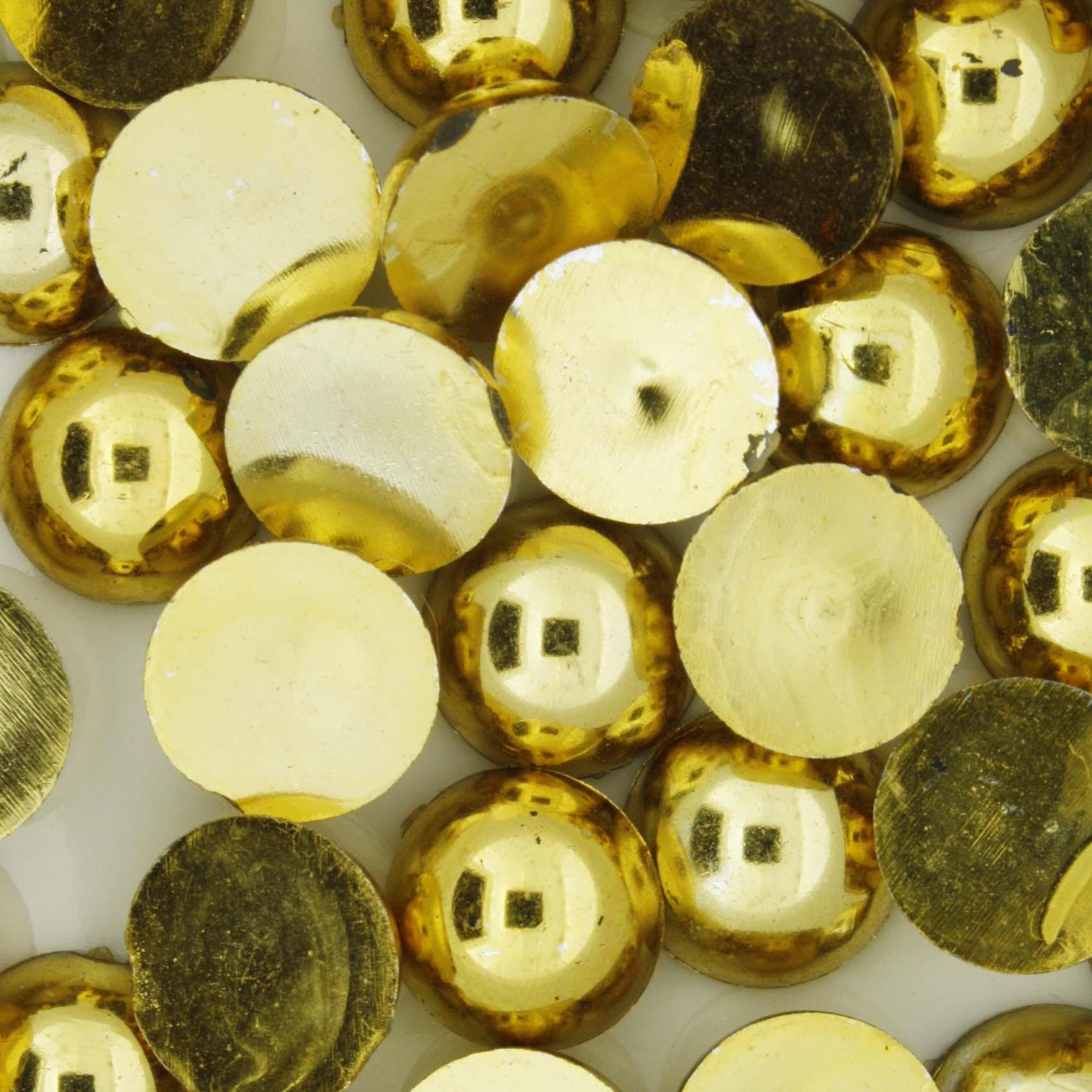 Meia Pérola - Dourada - 12mm  - Stéphanie Bijoux® - Peças para Bijuterias e Artesanato